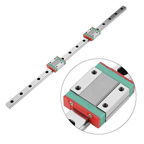 Miniatur Linearschiene Führungsschiene,MGN12 Mini Linear Rail Guide, 400 mm Linear Schiebetür Gide 12mm Breite mit zwei MGN12B Kutsche Block für DIY 3D Drucker und CNC-Maschine