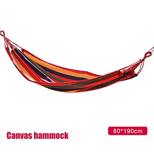 Etravel Amaca da campeggio, giardino, spiaggia, viaggio, in tela di cotone, portata fino a 200 kg, portatile, con borsa per il trasporto