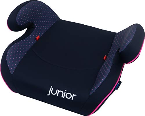 Petex Auto-Kindersitzerhöhung Max 112 ECE-Gruppe 2-3, Kinder von ca. 3,5-12 Jahre|15-36 kg, schwarz/pink