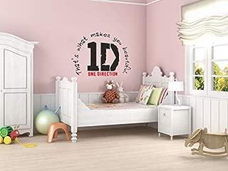 N.SunForest One Direction Wall Sticker 1d Logo & Lyrics Wall Art Viny Ldecal Transfer