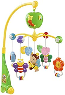 Toy baby bed bell baby toy music rotating bedside bell bed hanging rattle interesting toys
