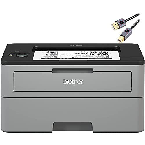 Premium Brother HL L2000 Series Compact Monochrome Laser Printer I Wireless | Mobile Printing I Auto 2-Sided I Up to 32 pages/min I 250-sheet/tray Amazon Dash Replenishment Ready + Delca Printer Cable