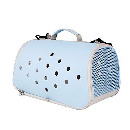 Aida Bz Pet Bag Portable Teddy Chien Bain Chat Sac Sortie Chat Cage Petit Voyage Chat Sac à Dos Pet Supplies,Blue