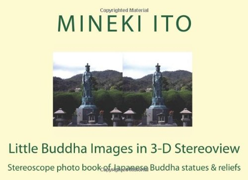 Little Buddha Images in 3-D Stereoview: Stereoscope photo book of Japanese Buddha statues & reliefs