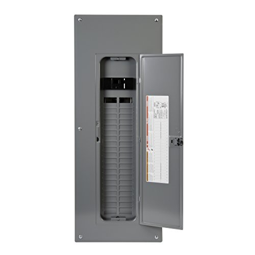 Square D by Schneider Electric HOM4284M225PC Homeline 225-Amp 42-Space 84-Circuit Indoor Main Breaker Load Center with Cover, Plug-on Neutral Ready
