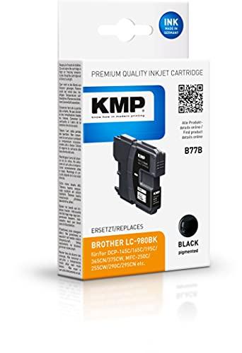 KMP B77B Ink Cartridge Black Compatible w. Brother LC-980 BK Marca KMP