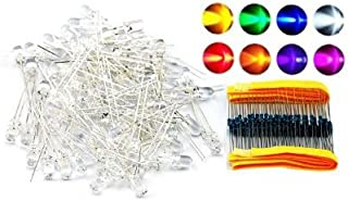 5mm Assorted Clear LED with Resistors