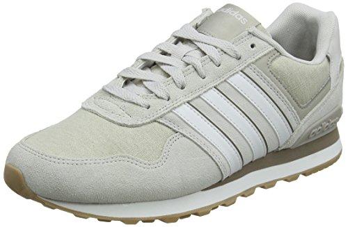 adidas 10k, Zapatillas de Gimnasia para Hombre, Gris (Grey One F17/crystal White S16/light Brown Grey One F17/crystal White S16/light Brown), 45 1/3 EU