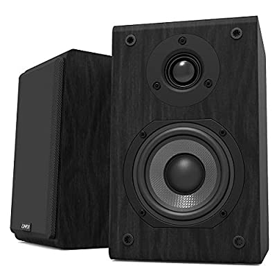 LONPOO lp42 Hifi Bookshelf Speakers Passive 2-Way Speaker Pair 75W*2 RMS Stereo Enhance for Home Cinema by zhongxinguang