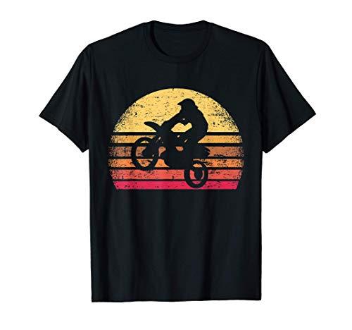 Piloto De Motocross Bicicleta De Motocross Puesta Del Sol Camiseta