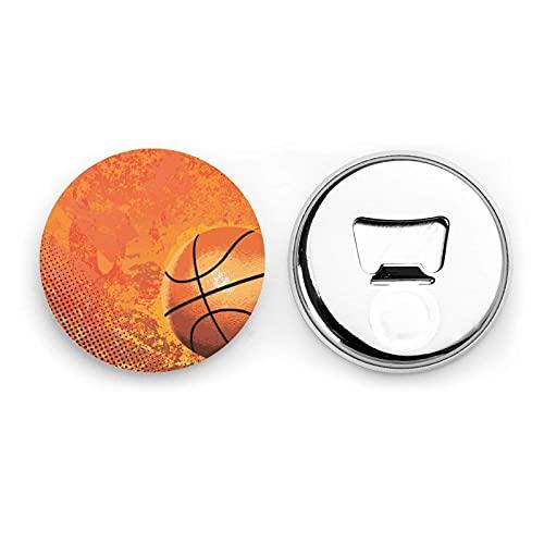 Abrebotellas redondas de baloncesto / Imanes de nevera Sacacorchos de acero inoxidable Etiqueta magnética 2 piezas