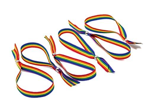 GOS Best Supplies 6 Pulseras De Tela Arcoiris Multicolor Rainbow Bandera LGTB Orgullo Gay Pride
