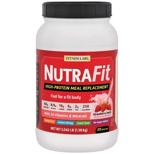 Fitness Labs NutraFit High-Protein Meal Replacement (Strawberry Swirl, 3 Pounds)