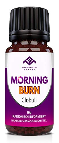 PHARMA HEALTH | MORNING Burn Globuli | für Frauen und Männer | schnell, vegan | radionisch informiert | 10g