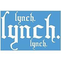 Lynch カッティングステッカー (白)