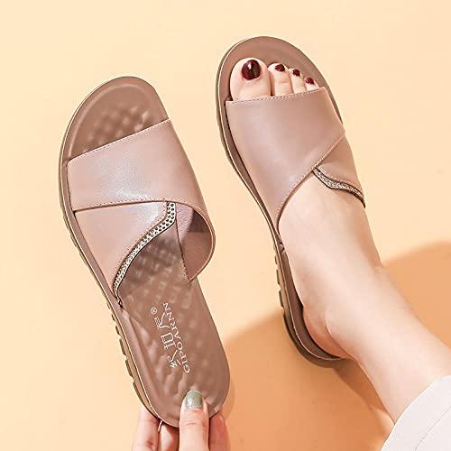 Kirin-1 Zapatillas De Casa para Mujer Verano,Zapatillas De Novia,Zapatillas para Mujer, Deslizamiento...