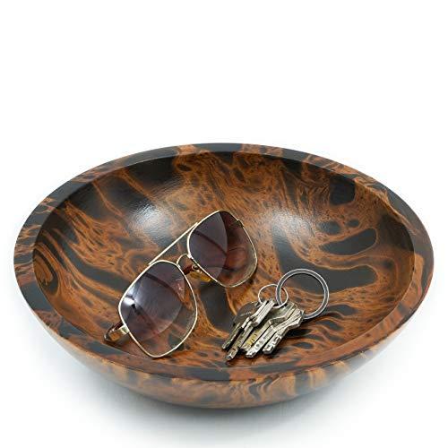Leewadee Decorative Bowl, 26x7 cm, Mango Wood, brown