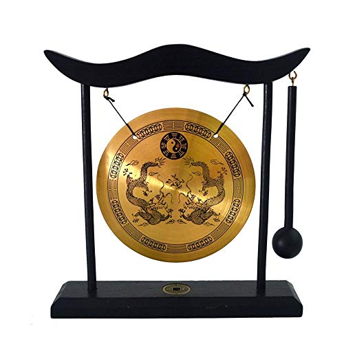 Xu Yuan Jia-Shop Espejo Bagua Latón Arte Zen Feng Shui Escritorio Gong Gong Dragón Espejo Protección Afortunado