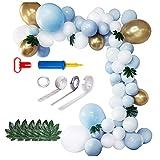ZHMIAO Kit de arco, guirnalda de globos, 111 piezas, decoración de cumpleaños para niños y niñas, Happy Birthday Party boda, novia, compromiso, baby shower