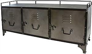 Credenza Buffet Mobile TV mobile in stile industriale ferro e metallo.