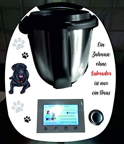 Stickers geschikt voor Thermomix TM 5 hond Labrador zwart