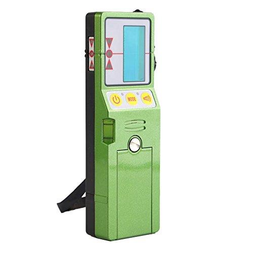 Detector de nivel láser, receptor de nivel láser, receptor de resma láser para exteriores con abrazadera adecuado para líneas ROJAS/verdes(Verde)