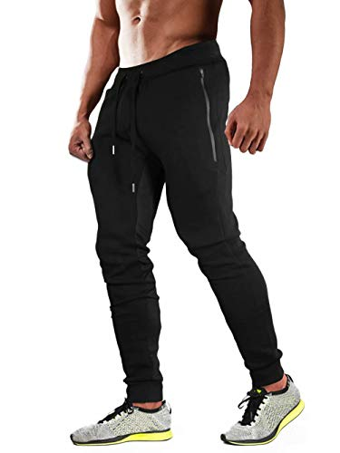 MAGCOMSEN Sweatpants for Men with Pockets Closed Bottom Mens Joggers Workout Pants Running Pants Gym Pants Joggers Pants Men Athletic Pantsng Pants Men Cold Weather