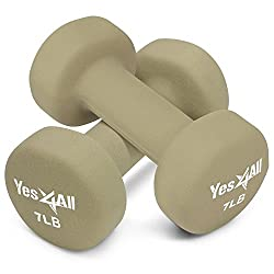 Yes4All Hexagon Neoprene Coated Dumbbell