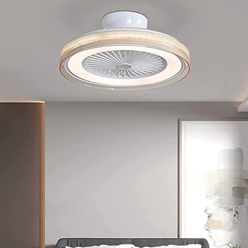 Ventilatori da soffitto con lampade e camera da letto remota Lampada a sospensione silenziosa Lampada da soffitto dimmerabile luminosa Lampada da soffitto a Led 3 velocità regolabile Soggiorno Cucin