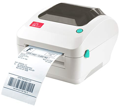 Arkscan 2054A Shipping Label Printer, Support Amazon Ebay Paypal Etsy Shopify ShipStation Stamps.com UPS USPS FedEx DHL on Windows & Mac, Roll & Fanfold 4x6 Thermal Direct Label for Printer (Beige)