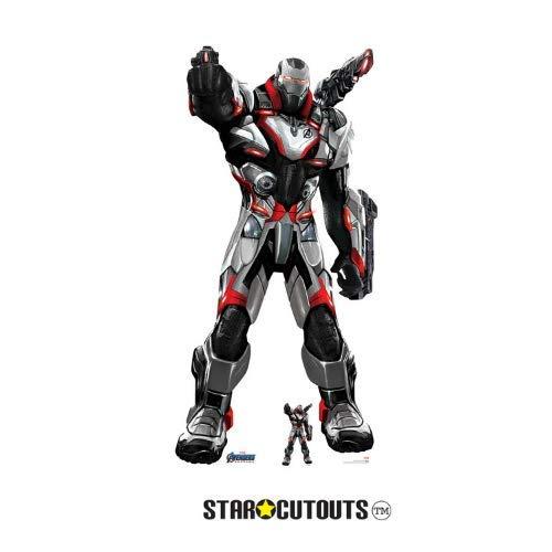 Star Cutouts Ltd SC1318 War Machine (Quantum Suit) 193 cm hoch Marvel Avengers Endgame Lebensgroße Pappfigur