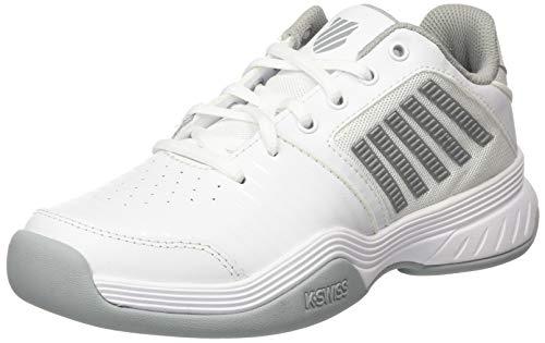 K-Swiss Performance KS Tfw Court Express Carpet-White/High-Rise/Silver, Zapatos de Tenis Mujer, Blanco/Rascacielos/Plata, 37 EU