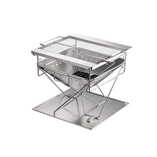 41dYKt5sb7L - WYJBD Metall Outdoor Grillzubehör, Folding Barbecue-Ofen Barbecue Licht Holzkohlegrilgrill Non Stick im Freien