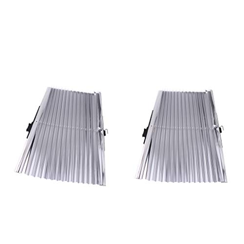 Sharplace 2pcs Voiture Soleil Isolant Rideau Protection UV Rétractable Housses De Bouclier