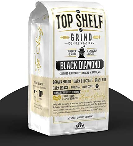 The Best High Caffeine Dark Roast Whole Bean Black Coffee Extra Strong Gourmet Columbian Clean product image