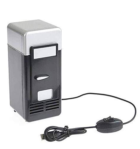 FGDSA Mini Refrigerador De 5V, Mini Refrigerador Portátil con Alimentación por USB Enfríe Rápidamente para El Cuidado De La Piel del Dormitorio Solo Se Puede Colocar Una Botella De Bebida, Rojo