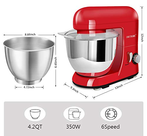 CHEFTRONIC SM985-Red Standing Mixer, One Size, Red