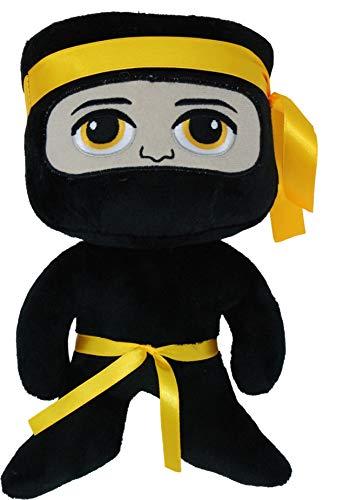 Ninja Plüsch Maskottchen Teddy Glücksbringer Stofftier Geschenk Kampfsport Kickboxen Karate Taekwondo MMA Muay Thai Thaiboxen