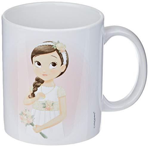 Mopec G969.1 Taza cerámica Comunión niña romántica, Porcelana