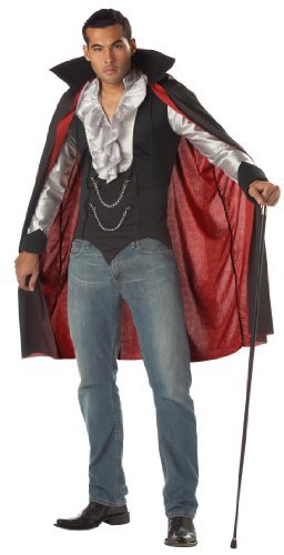 California Costumes Vampirkostüm Dracula - Schwarz/silber - Gr:- L