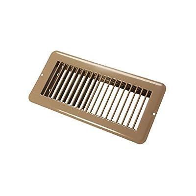 "JR Products 02-28995 Undampered Floor Register - 4"" x 10"", Brown"