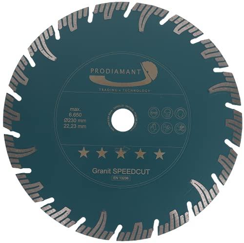 PRODIAMANT Profi Diamant-Trennscheibe Granit SUPER SPEED CUT 230 mm x 22,2 mm Diamanttrennscheibe PDX826.050 230mm