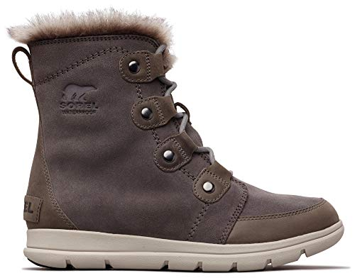 Sorel - Women's Explorer Joan Waterproof Insulated Winter Boot, Quarry, 11 M US