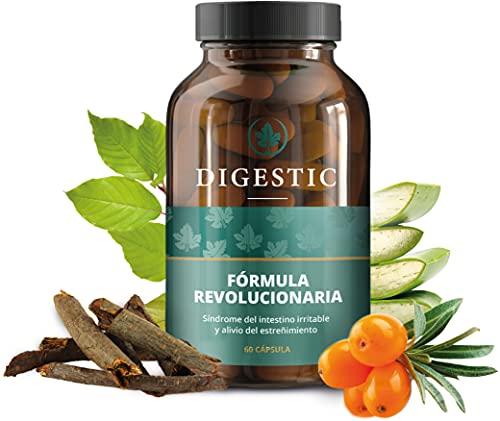 Digestic - Laxante para Aliviar el Estreñimiento - Ablandador de Heces - Ingredientes 100% Naturales - 60 Cápsulas - Nueva Fórmula Innovadora Limpieza Detox del Colon