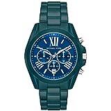 Michael Kors Women's Bradshaw Quartz Watch with Stainless Steel Strap, Blue, 20 (Model: MK6723)
