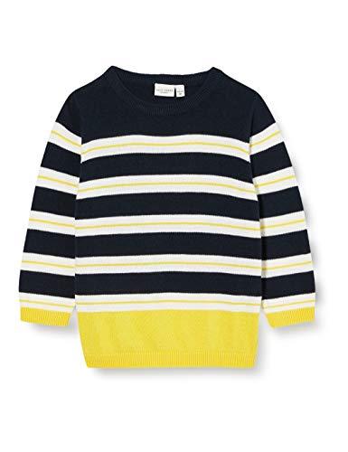 NAME IT Jungen NMMVALEX LS Knit B Pullover, Blau (Dark Sapphire), 98