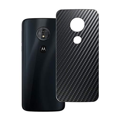 二枚 Sukix 背面保護フィルム 、 Motorola Moto E5 / g6 play 向けの ブラック カーボン調 TPU 保護フィルム 背面 フィルム スキンシール 背面保護 背面フィルム(非 ガラスフィルム 強化ガラス ガラス ケース カバー ) 修繕版