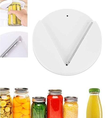 JGDD Abretarros debajo del gabinete, el abridor de tarros de agarre abre cualquier tamaño/tipo de tapa sin esfuerzo, utensilio de cocina para manos débiles y personas mayores con artritis (1 unidad)