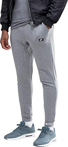 Nike Mens Modern Jogger Tracksuit Pants Cuffed Sweat Bottoms Carbon Heather/Black Medium