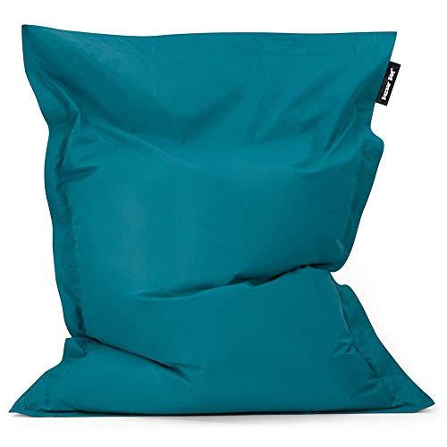 Bean Bag Bazaar - Verde Azulado, 180cm x 140cm, Puf Gigante para Interiores y Exteriores – Puff Enorme, Ideal para Usar en el Hogar y el Jardín